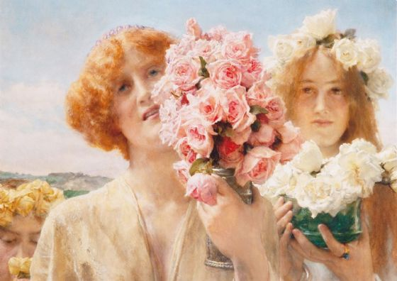 Alma-Tadema, Sir Lawrence: 'Summer Offering'. Fine Art Print/Poster. Sizes: A4/A3/A2/A1 (003782)